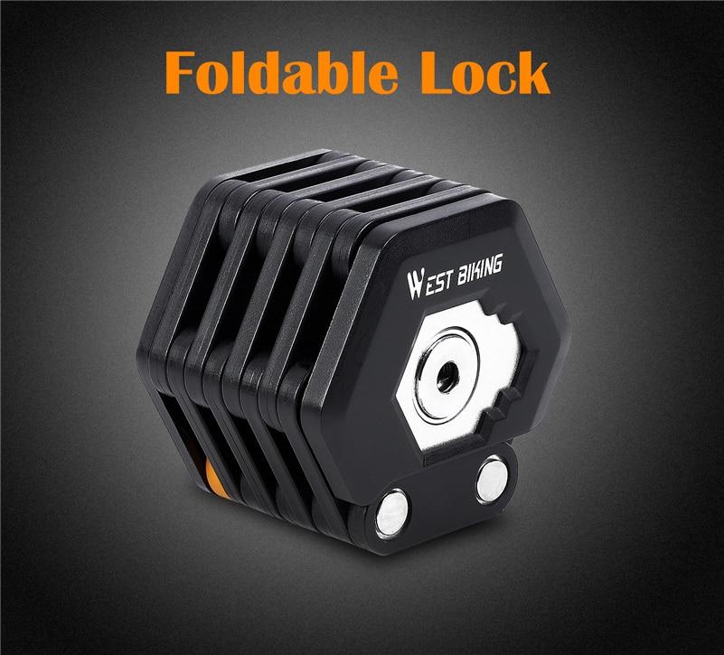 Foldable Bike Lock With 3 Keys Hamburg-Lock Alloy Anti-Theft Strong Security Bicycle Folding Lock Mount Bracket Bike Chain Lock