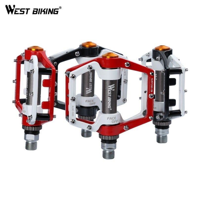 1 Pair Cycling Mountain Bike Pedals Bicycle Pedal Aluminum Alloy Sealed Bearing~