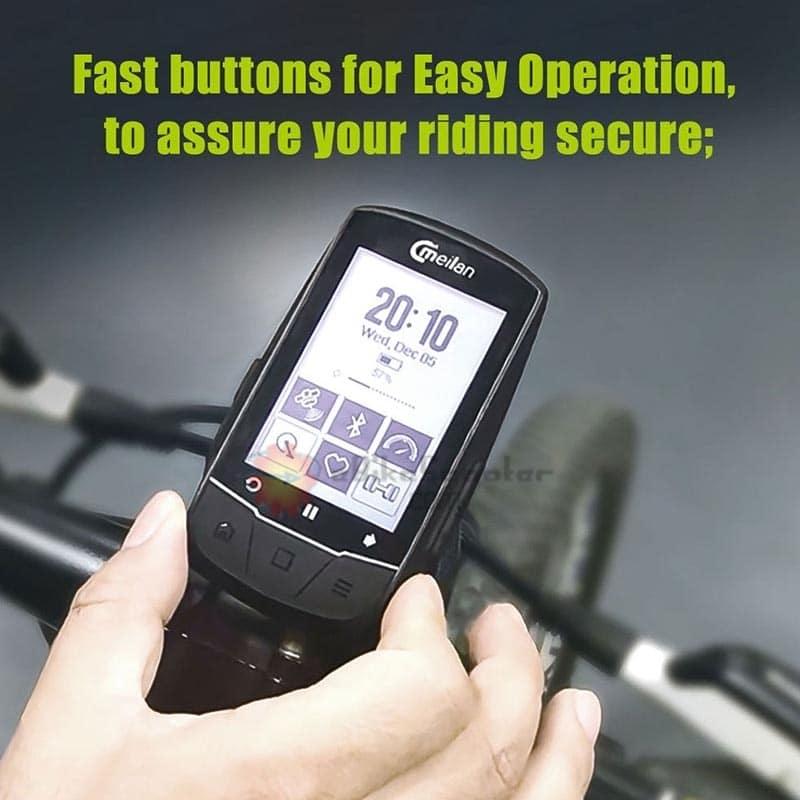 Cycle GPS Speedometer Bicycle Bike Computer USB Recharge Climbing ride training