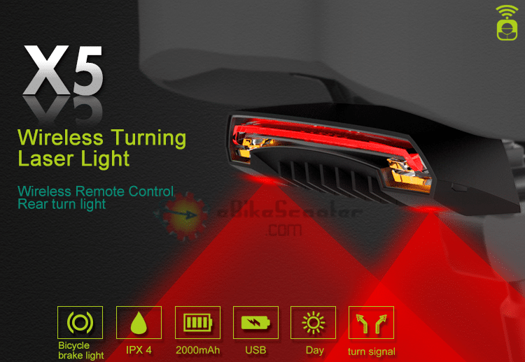 USB Rechargeable 3-Mode Bike Bicycle Tail Rear Warning Red Light Lamp GN