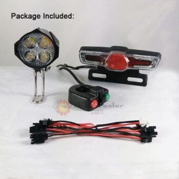 Electric Bike 24V 36V 48V 60V LED Tail Light Rear Lamp Brake Light Scooter Ebike