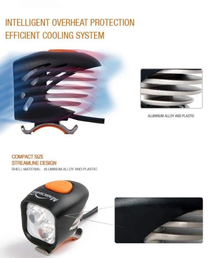 MagicShine MJ902 2000 Lumen LED Bike Front and rear light
